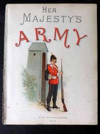 Richards Her Majesty's Army 1890 Military Print South Wales Borderers Title Page